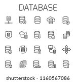 database related vector icon... | Shutterstock .eps vector #1160567086
