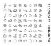 modern outline style money... | Shutterstock .eps vector #1160567776