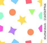 seamless geometric cute pattern | Shutterstock .eps vector #1160569966