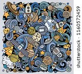 cartoon vector doodles space... | Shutterstock .eps vector #1160572459