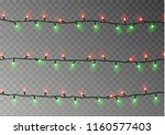 christmas lights string... | Shutterstock .eps vector #1160577403