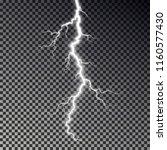 lightning bolt isolated on dark ... | Shutterstock .eps vector #1160577430