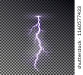 lightning bolt isolated on dark ... | Shutterstock .eps vector #1160577433