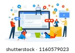 vector illustration concept of... | Shutterstock .eps vector #1160579023