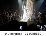 "BANGKOK, THAILAND - OCT 14 : Model walks the runway at "" Senada"" collection presentation during ELLE Fashion Week 2012 on October 14, 2012 in Bangkok Thailand. - stock photo"