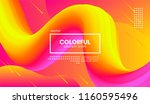 abstract modern colorful liquid ... | Shutterstock .eps vector #1160595496