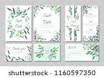 eucalyptus design. wedding... | Shutterstock .eps vector #1160597350