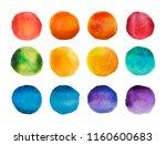 Bright Watercolor Circles Set....