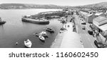 carnlough harbour glencloy co.... | Shutterstock . vector #1160602450