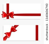 holiday gift banner with red... | Shutterstock .eps vector #1160606740
