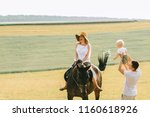 a young family have a fun in... | Shutterstock . vector #1160618926