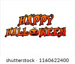 happy halloween. hand drawn... | Shutterstock .eps vector #1160622400