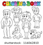 coloring book family collection ... | Shutterstock .eps vector #116062810