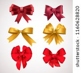 big set of colorful gift bows... | Shutterstock .eps vector #1160628820