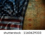 usa flag vintage background | Shutterstock . vector #1160629333