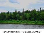 river along the wild forest....   Shutterstock . vector #1160630959