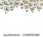 balloons frame with flag of...   Shutterstock . vector #1160632480