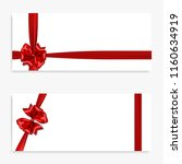 holiday gift banner with red... | Shutterstock .eps vector #1160634919