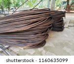 rusty steel wire | Shutterstock . vector #1160635099