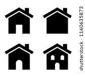 house vector clip art set | Shutterstock .eps vector #1160635873