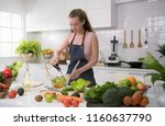 healthy young woman in a... | Shutterstock . vector #1160637790