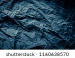 grey crumpled paper texture... | Shutterstock . vector #1160638570
