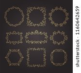 vintage ornaments and dividers. ... | Shutterstock .eps vector #1160642659