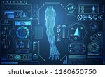 abstract technology ai arm... | Shutterstock .eps vector #1160650750
