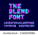 blend tool font set rounded | Shutterstock .eps vector #1160654086
