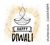 happy diwali. typography. logo... | Shutterstock .eps vector #1160654899