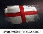 england flag made of metallic...   Shutterstock . vector #1160656183