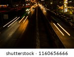 line lights of vehicle on the... | Shutterstock . vector #1160656666