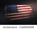 united states of america flag... | Shutterstock . vector #1160656960