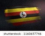 uganda flag made of metallic...   Shutterstock . vector #1160657746