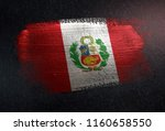 peru flag made of metallic... | Shutterstock . vector #1160658550