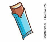 cute and funny yummy blue wafer ... | Shutterstock .eps vector #1160662393