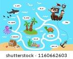 education maze game vector... | Shutterstock .eps vector #1160662603