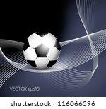 soccer ball background | Shutterstock .eps vector #116066596