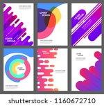 set of brochure  annual report  ... | Shutterstock .eps vector #1160672710