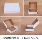 set of cardboard boxes for... | Shutterstock . vector #1160673073