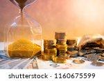 sand running through the shape... | Shutterstock . vector #1160675599