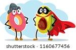 hero super food avocado and... | Shutterstock .eps vector #1160677456