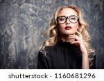 beauty portrait. attractive... | Shutterstock . vector #1160681296