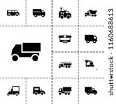 van icon. collection of 13 van... | Shutterstock .eps vector #1160688613