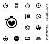minute icon. collection of 13... | Shutterstock .eps vector #1160688646