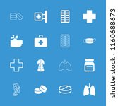 illness icon. collection of 16... | Shutterstock .eps vector #1160688673