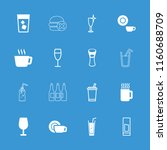 beverage icon. collection of 16 ... | Shutterstock .eps vector #1160688709