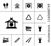 percussion icon. collection of... | Shutterstock .eps vector #1160688769