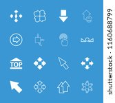 cursor icon. collection of 16... | Shutterstock .eps vector #1160688799