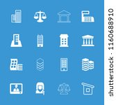 government icon. collection of... | Shutterstock .eps vector #1160688910